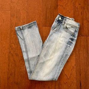 White House Black Market Light Distressed Jeans